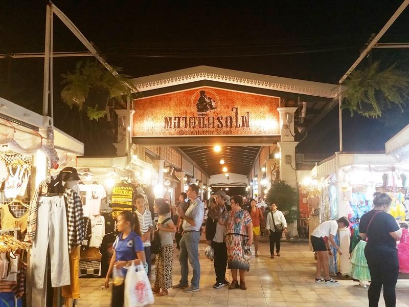 Sinakarin Railway Market Center area