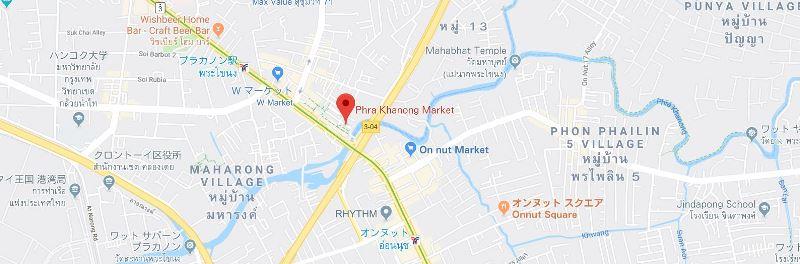 プラカノン市場地図