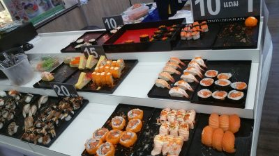 Sushi at the food court
