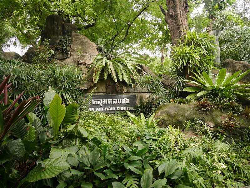 Entrance to the bomb shelter in Dusit Zoo