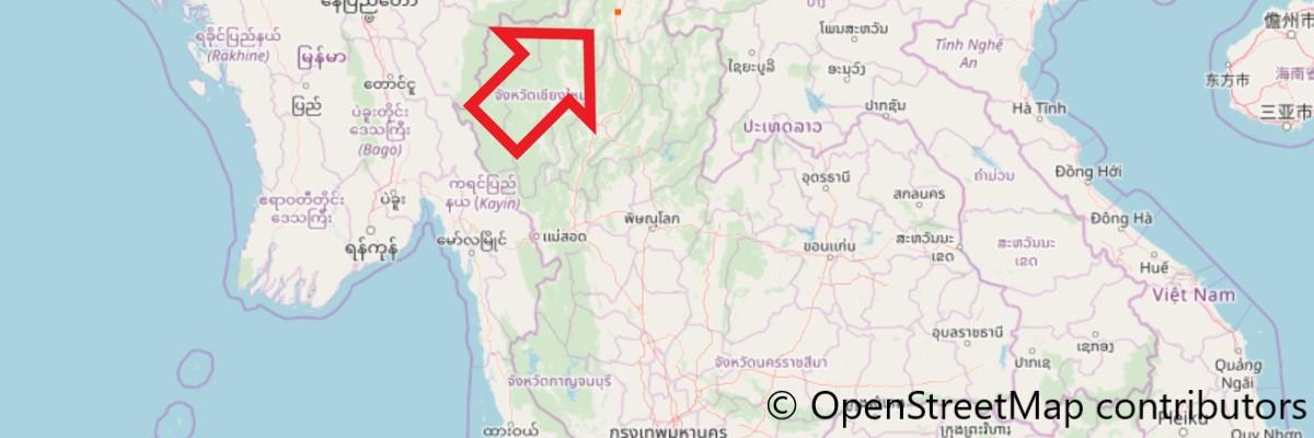 ワット・ロン・クンの地図