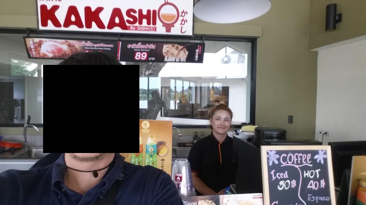 日本人村のレストランと店員さん