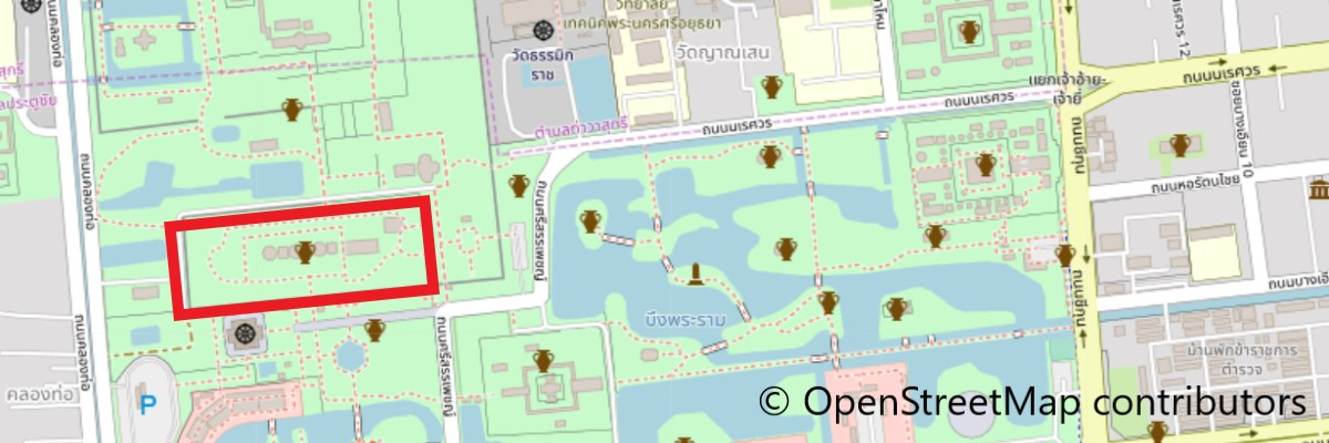 ワット・プラ・シー・サンペットの地図