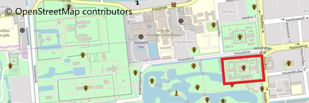 ワット・プラ・マハタートの地図