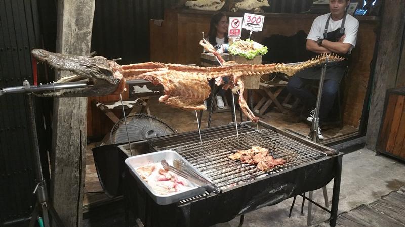 crocodile meat