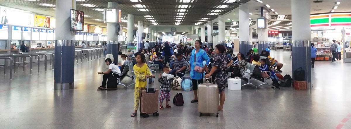 バンコクの北バスターミナル