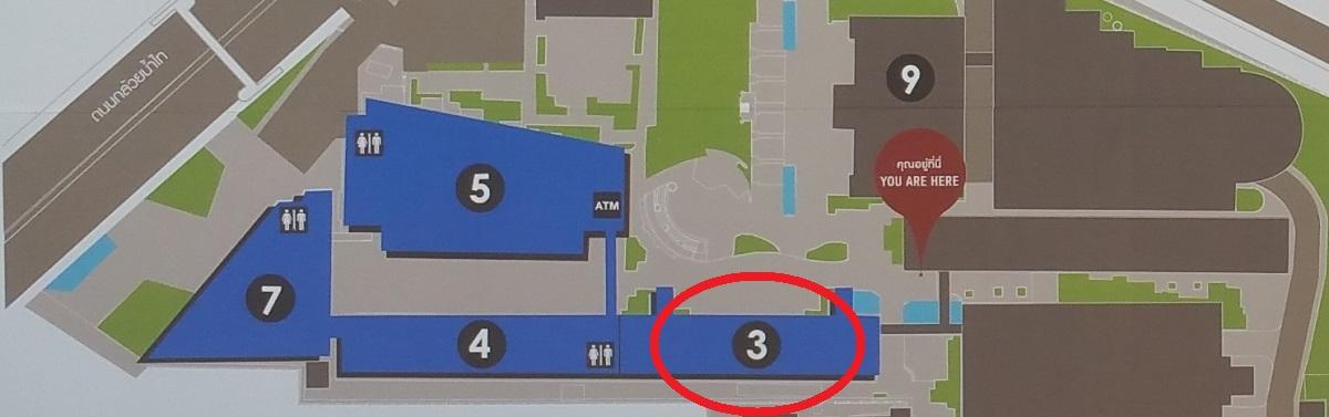 バンコク大学キャンパス地図