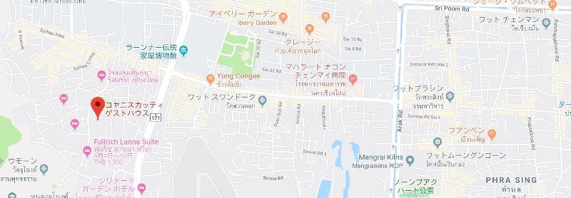 コヤニスカッティゲストハウス地図