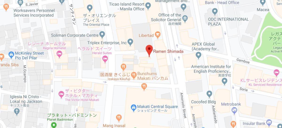 ラーメン島田地図