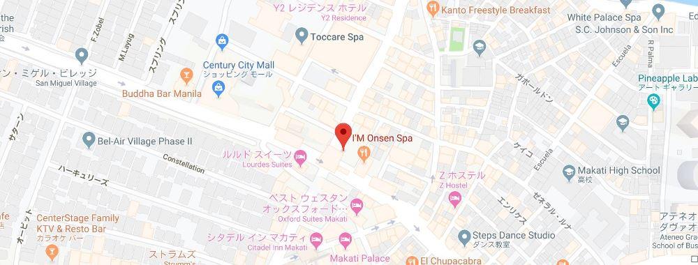 アイム温泉スパの地図