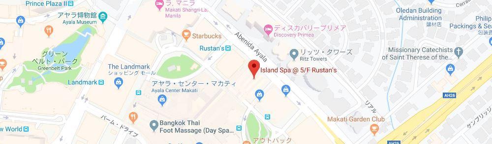 アイランドスパルスタンス店の地図