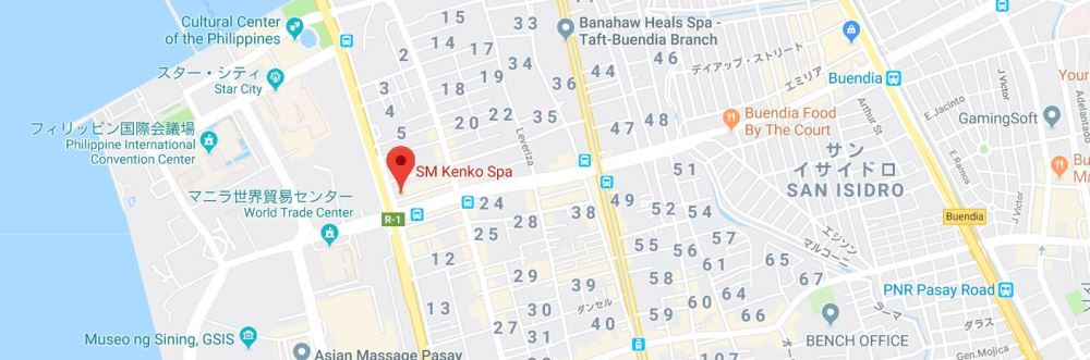 SM健康スパの地図