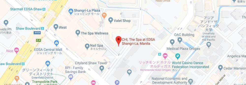 CHI・ザ・スパの地図