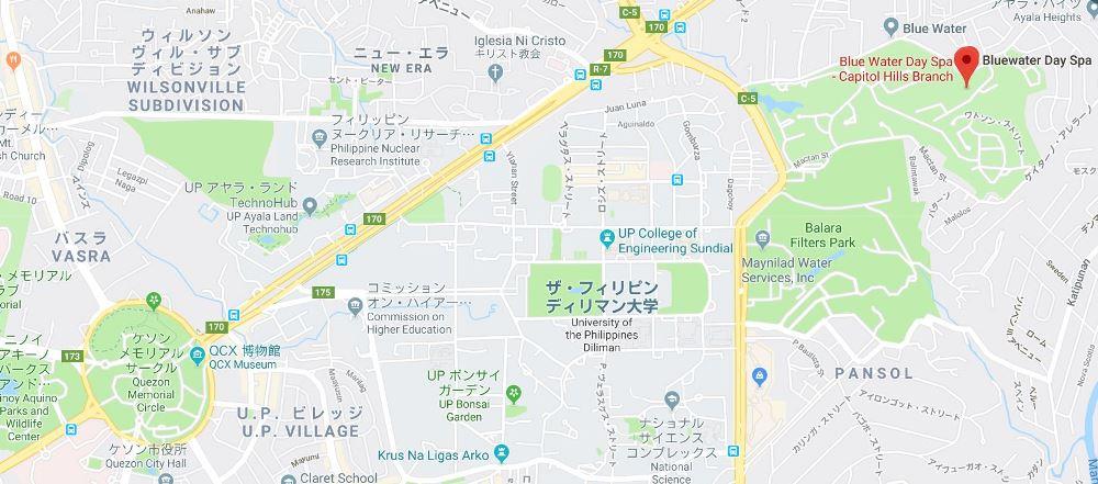 ブルーウォーターデイスパの地図
