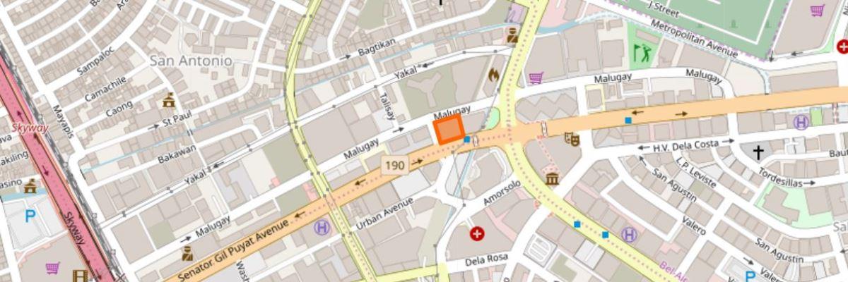 マカティTOEIC会場の地図