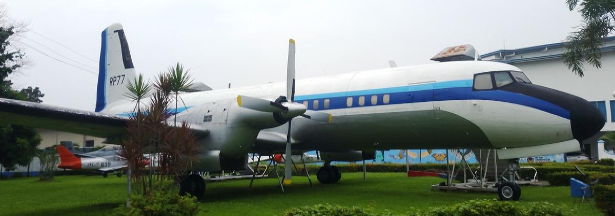 旅客機の展示