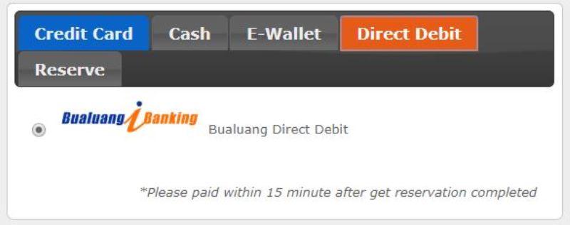 デビットカードでの支払い