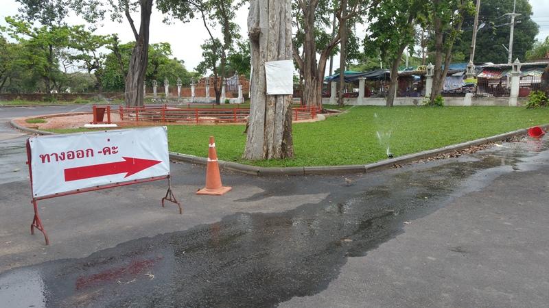 ワット・タミカラットの駐車場