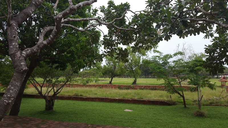ワット・タミカラット隣の王宮の庭