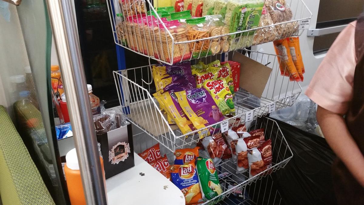 snack food (esp. potato chips, popcorn, etc.)