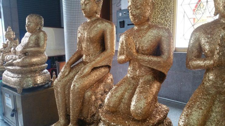 Gold leaf statue