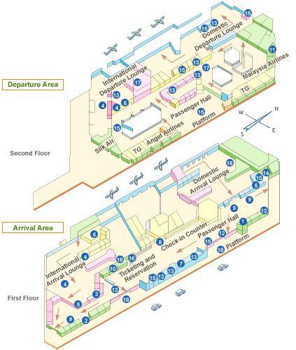 チェンマイ空港フロアマップ