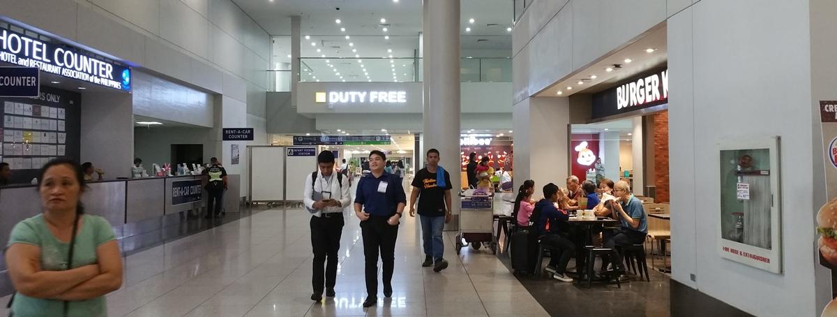 マニラ空港第3ターミナル1階