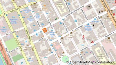 パールガーデンホテルの地図