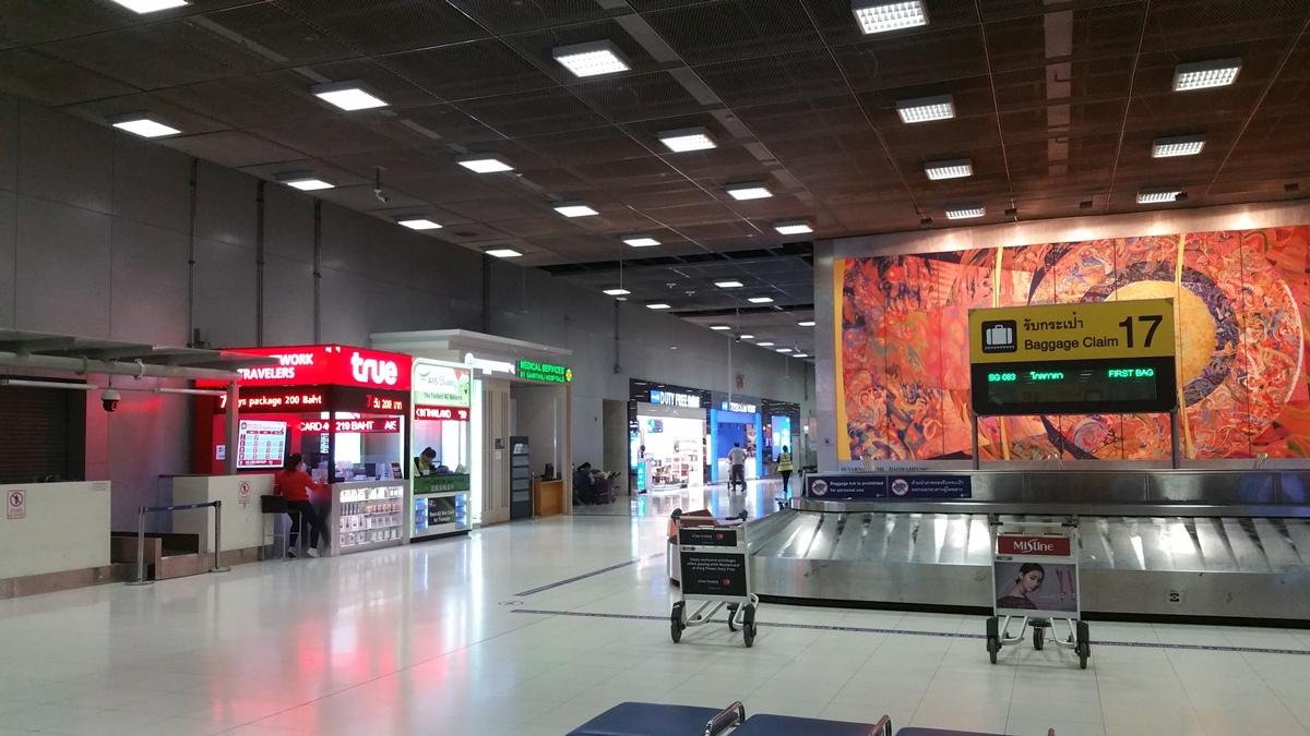 スワンナプーム空港の荷物受取エリア