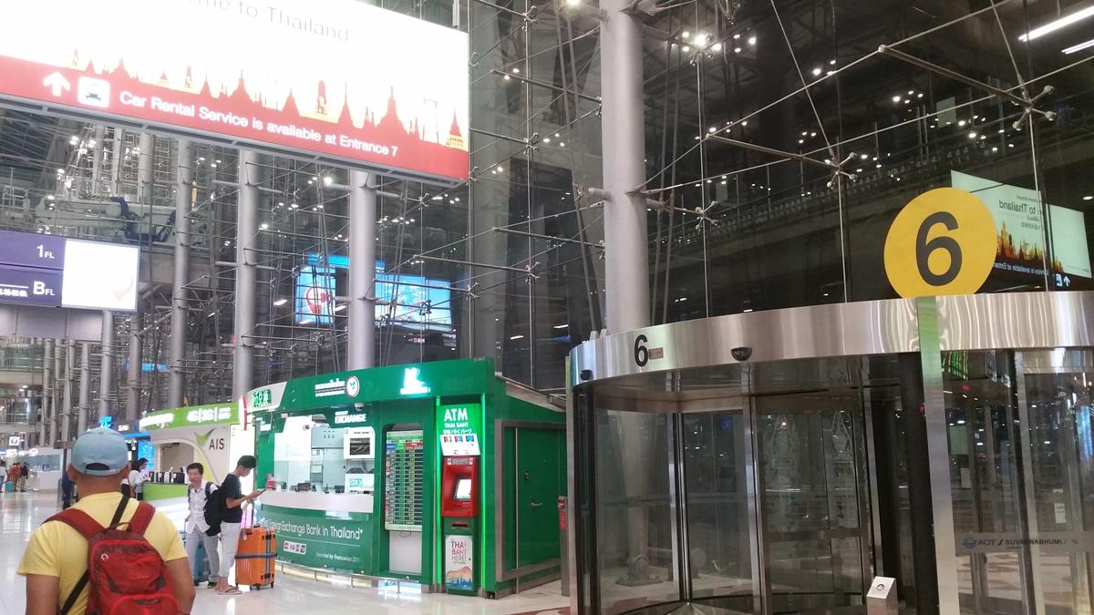 スワンナプーム空港のゲート6