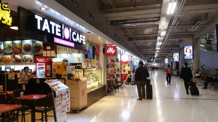 スワンナプーム空港のレストラン通り