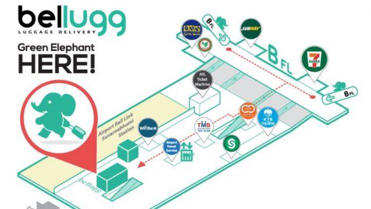 スワンナプーム空港ベルラック地図