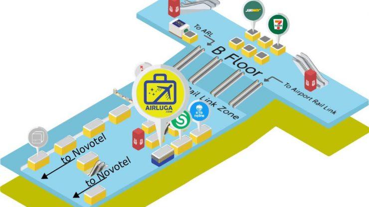 スワンナプーム空港のエアルーガ地図