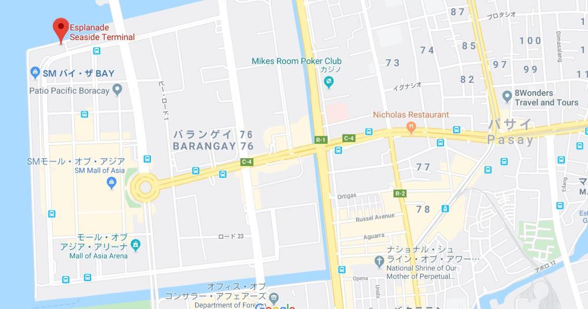 エスプラネード・シーサイド・ターミナル地図