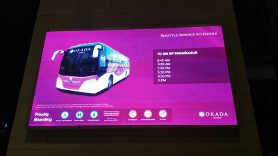SMパラニャーケへのシャトルバス時刻表