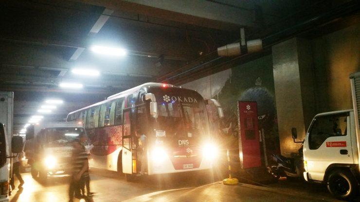 オカダマニラへのシャトルバス