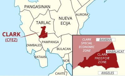 クラークフリーポート経済特区の地図