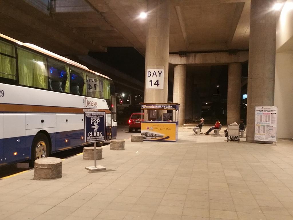 マニラ空港第3ターミナルP2Pバス乗り場
