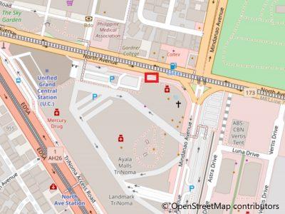 ジェネシスバスオフィス正面乗り場地図