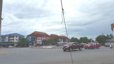 ワットローカヤスターの途中にある環状交差点