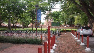 Bicycle parking at Wat Mahathat