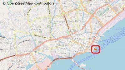 セブ港Pier1の地図