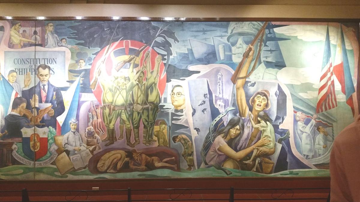 フィリピン国立博物館上院セッションホールの絵