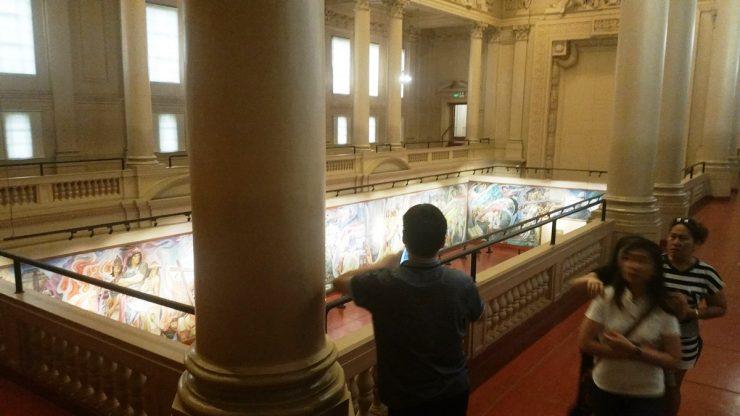 フィリピン国立博物館上院セッションホールを上から