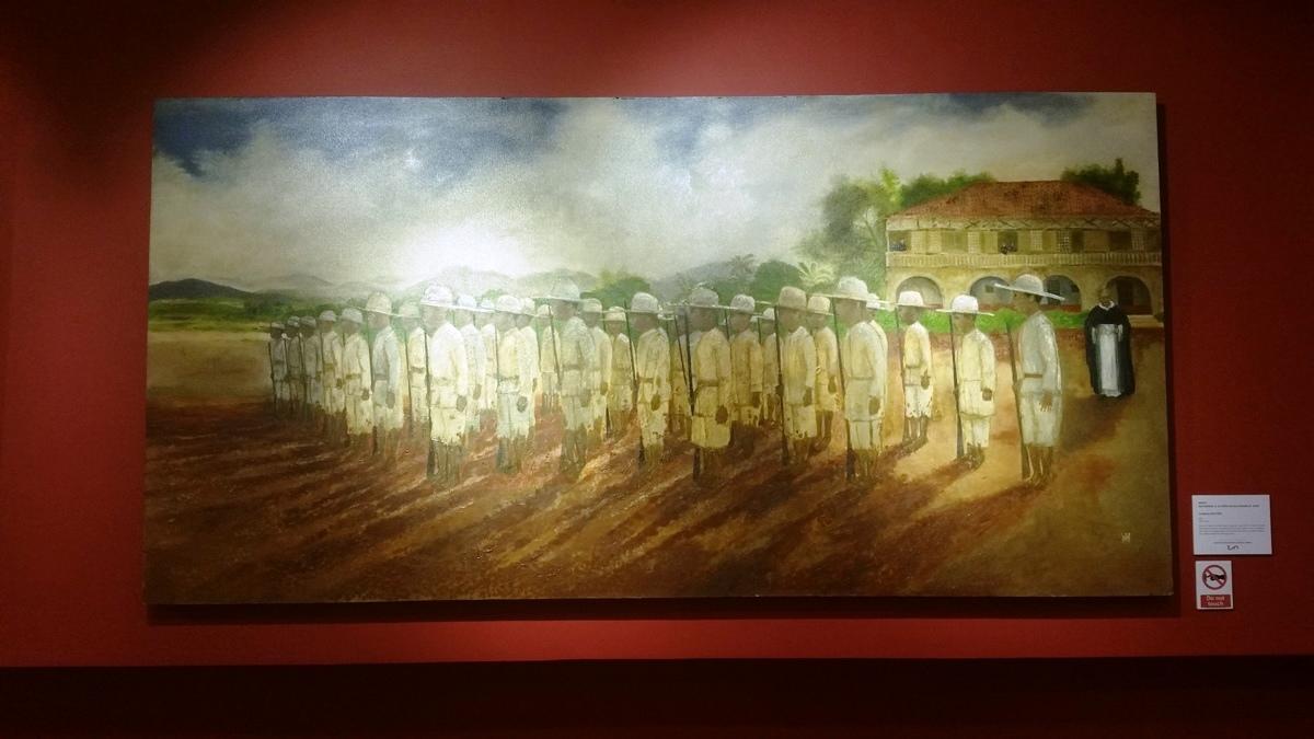 ギャラリー27と28に展示されている若き兵隊の絵