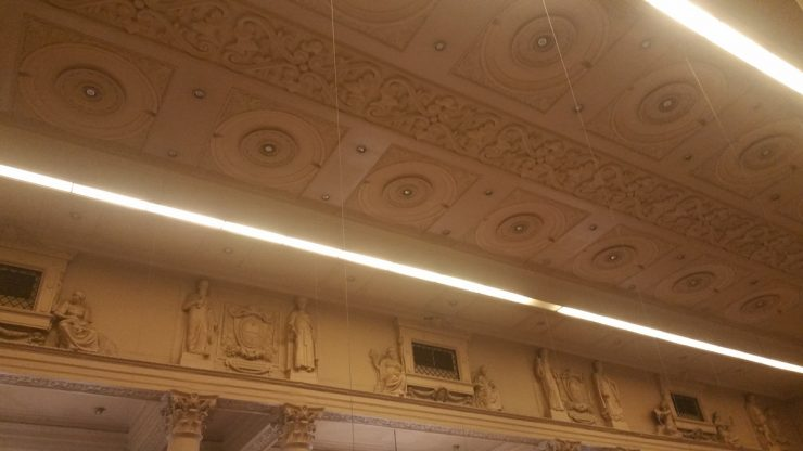 フィリピン国立博物館上院セッションホールのエンタプラチュア
