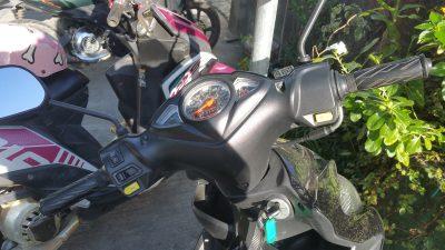 バイクのハンドル部