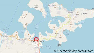 プエルトガレラのムリエ港地図