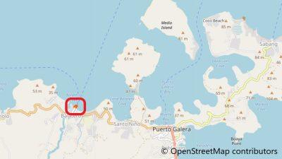 プエルトガレラのバラテロ港地図
