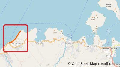 プエルトガレラのホワイトビーチ地図